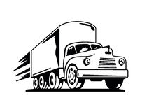 Fast Vintage Truck Silhouette Royalty Free Stock Photo