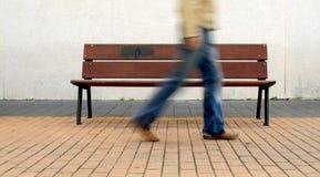 Fast walking blur stock images