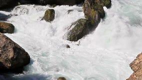 Fast water flow. Tazhikistan. Iskanderdarya stock video footage