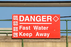 Fast Water Sign Stock Photos