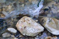 Fast water stream Royalty Free Stock Photo