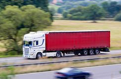 Fast white truck Royalty Free Stock Photography