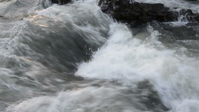Fast, wild water rapid drop footage stock video footage