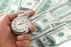Fast working money Royalty Free Stock Photo
