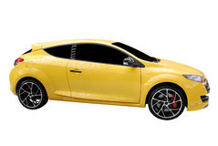 Fast yellow car Stock Image