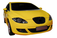 Fast yellow car Stock Images