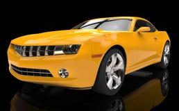 Fast Yellow Car Royalty Free Stock Photos