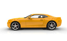 Fast Yellow Car Royalty Free Stock Images