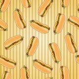 Fasta food bezszwowy deseniowy tło Obrazy Royalty Free