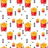 Fasta food bezszwowy wzór Zdjęcie Stock