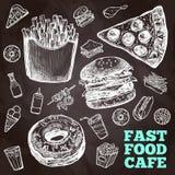 Fasta food chalkboard Zdjęcie Royalty Free