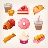 Fasta food deseru towary ilustracji