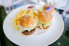 Fasta food hamburger Zdjęcie Royalty Free