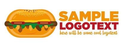 Fasta Food hamburgeru logo Zdjęcie Stock