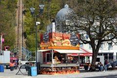 Fasta food Hotdog stojak fotografia stock