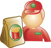 fasta food ikony pracownik Obrazy Royalty Free