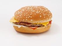 Fasta food mały hamburger na białym tle zdjęcia stock
