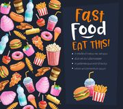 Fasta food plakat royalty ilustracja