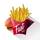 Fasta food plakatowy projekt odizolowywający Zdjęcie Stock
