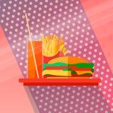 Fasta food pojęcie royalty ilustracja