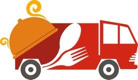 Fasta food pojazdu logo Zdjęcia Stock