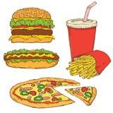 fasta food set Obrazy Royalty Free