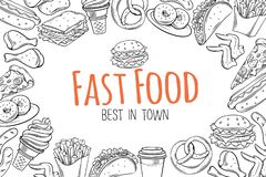Fasta food szablon ilustracji