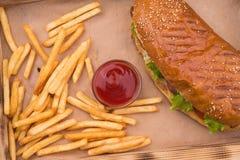 Fasta food tło Zdjęcia Royalty Free
