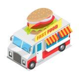 Fasta Food tramwaju Isometric projekci projekt Obrazy Royalty Free