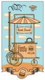 fasta food wiszącej ozdoby sklep Obraz Stock