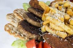 Fasta food zamknięty up odizolowywający na białym tle Zdjęcie Royalty Free