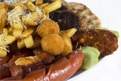 Fasta food zamknięty up odizolowywający na białym tle Fotografia Royalty Free