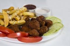 Fasta food zamknięty up odizolowywający na białym tle Fotografia Stock