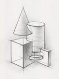 Fasta geometriska former Fotografering för Bildbyråer