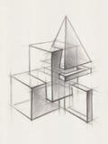 Fasta geometriska former Arkivfoton