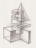 Fasta geometriska former Royaltyfri Fotografi