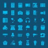 Fasta rengöringsduksymboler för hushåll stock illustrationer