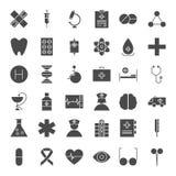 Fasta rengöringsduksymboler för medicin vektor illustrationer