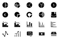 Fasta symboler 11 för finansvektor Arkivbilder