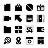 Fasta symboler för manöverenhet stock illustrationer