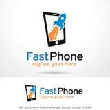 Fastar telefonen Logo Template Design Vector Royaltyfri Foto