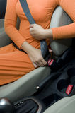 Fasten Seat Belt Stock Photo