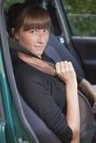 Fasten seat belt in car Stock Photography