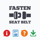 Fasten seat belt sign icon. Safety accident Royalty Free Stock Image