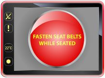 fasten seat belts Royalty Free Stock Image
