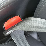 Fasten seat belts in the car for  safety Stock Photos