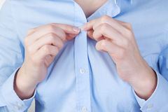 Fasten shirt Stock Image