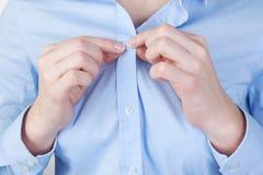 Fasten shirt Stock Image