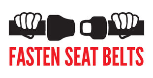 Fasten your seat belts icon Royalty Free Stock Images