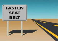 Fasten Your Seatbelt Royalty Free Stock Images